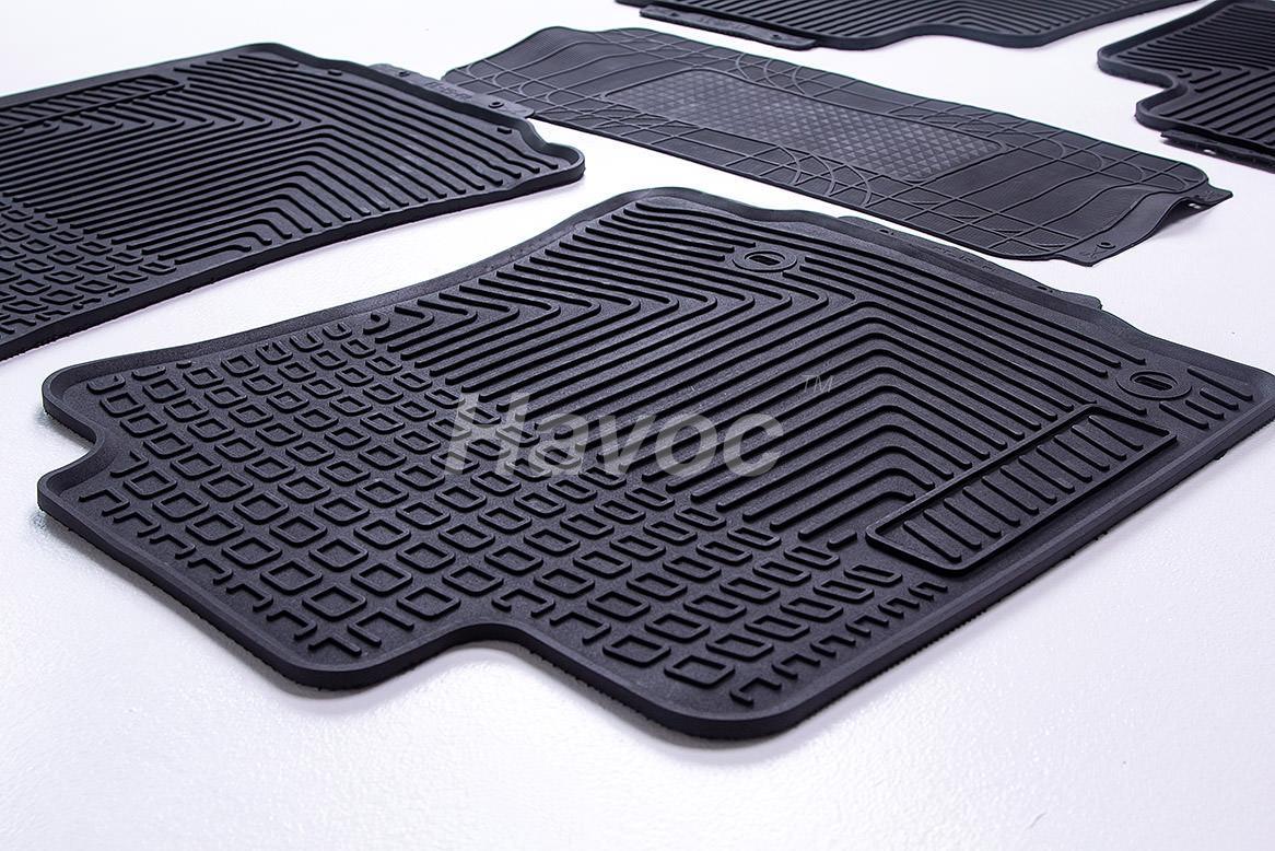 Оригинальные коврики Toyota Land Cruiser 150 c 2009 HAVOC резиновые в салон полный комплект