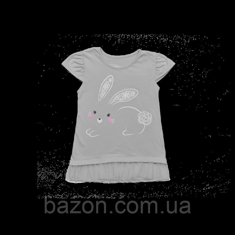 Дитяча сукня Dexters Зайчик Сірий (розміри 74 см, 86 см, 92 см)