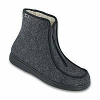 Зимние ботинки на овчине диабетические, для проблемных ног мужские DrOrto 996 M 004