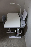 Комплект Парта и стул-трансформеры Funkids М9047grey+ЛАМПА!+Подставка для книг!, фото 1