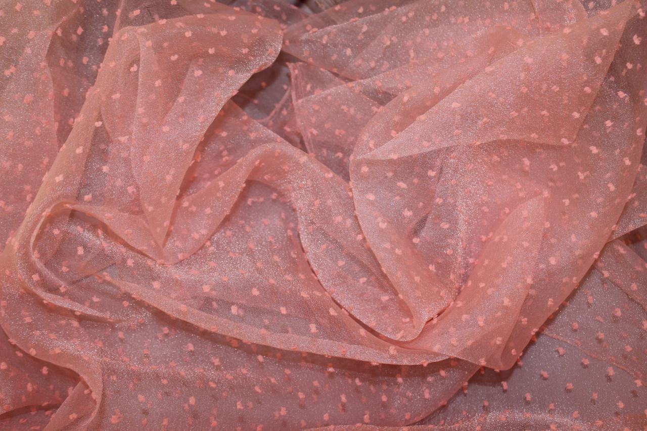 Огранза мягкая , не стрейч, Точка средняя, цвет персик №611, фото 1