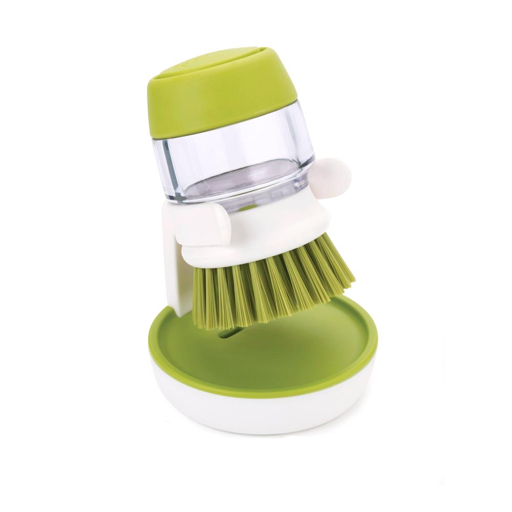 Щетка для мытья посуды с дозатором для моющего Joseph Joseph Palm Crub Green