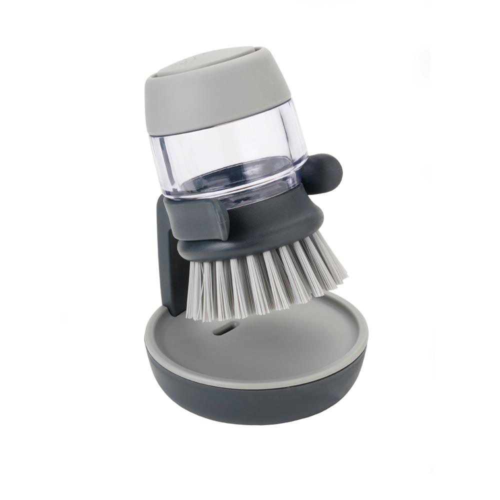 Щетка для мытья посуды с дозатором для моющего Joseph Joseph Palm Crub Grey