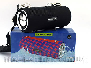 Hopestar H39 портативна вологозахищена портативна колонка 10W USB, Bluetooth FM, чорна