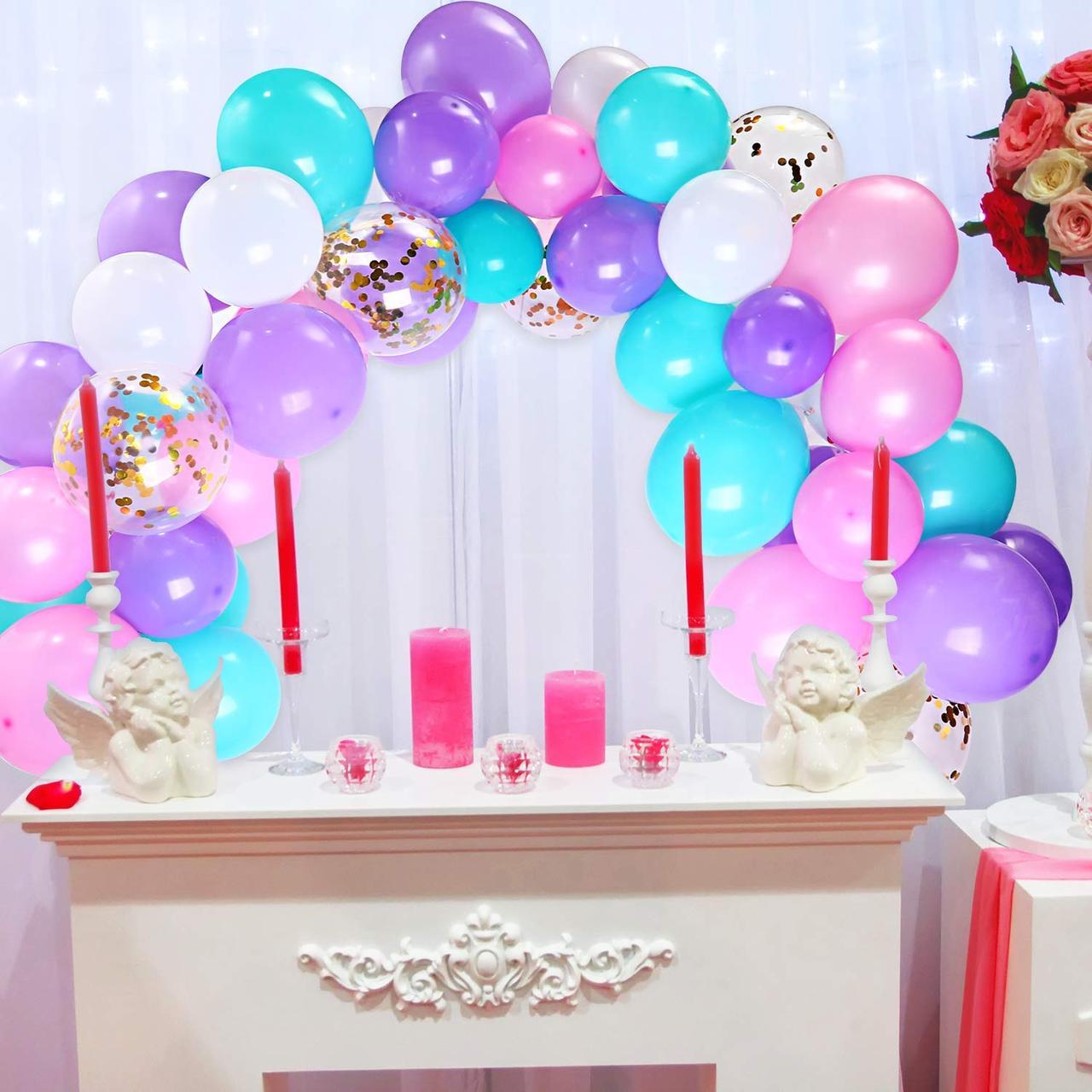 Гирлянда воздушных шаров в виде арки / фотозона для праздников: свадьба, день рождение, вечеринка, юбилей