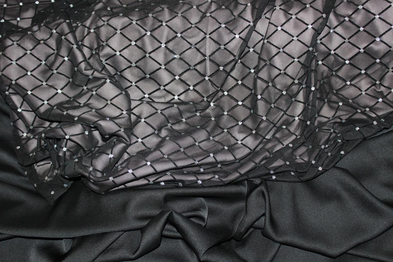 Сетка легкая,  стрейч сетки ограничен. флок и глистер ,  №620, фото 1