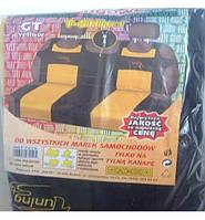 Майка сидения задняя желто-черная велюр MILEX