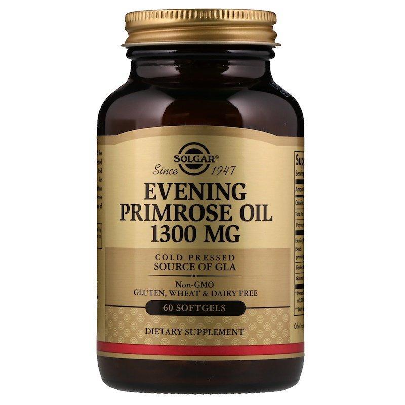 "Масло примулы вечерней SOLGAR ""Evening Primrose Oil"" 1300 мг (60 гелевых капсул)"
