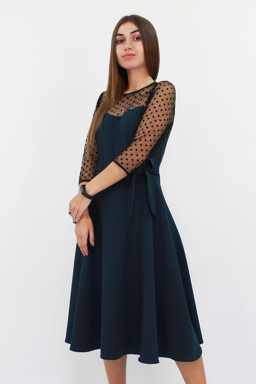 S, M, L, XL / Вишукане жіноче плаття Blade, темно-зелений