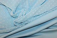 Шифон голубой , пупырышки № 621, фото 1