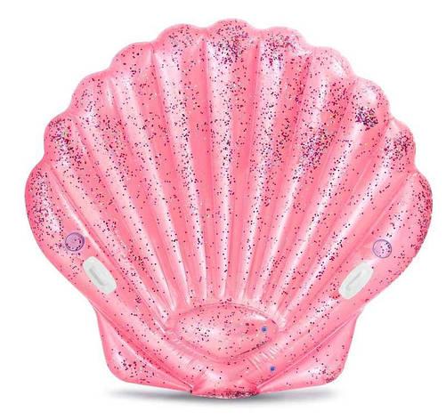 """Intex Детский надувной плотик 57257 EU """"Розовая ракушка"""" (3) размер 178х165х24см, от 6-ти лет, фото 2"""