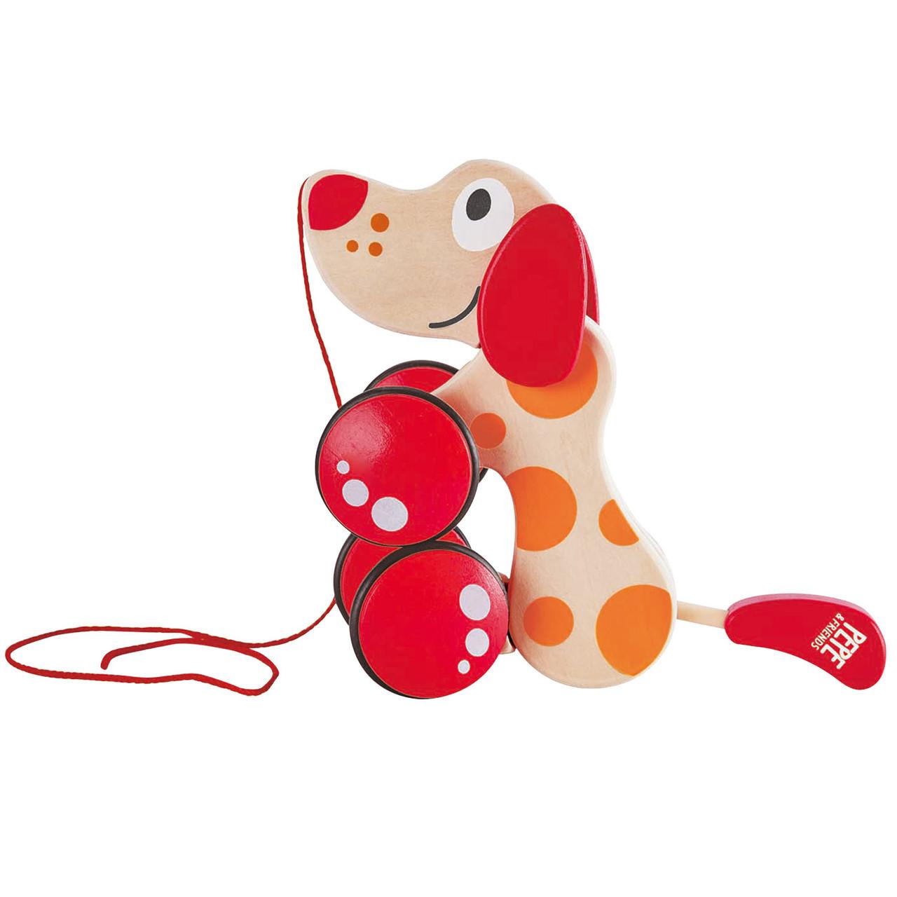 Дитяча каталка на мотузці Hape Щеня (E0347)