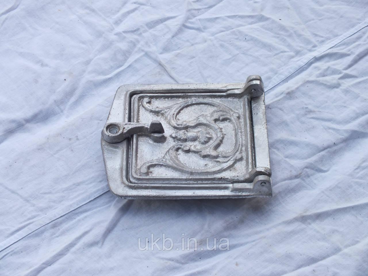Дверца прочистная (алюминий) ЦВЕТОК 170*150 мм
