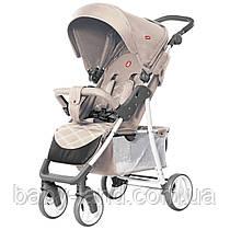 *Коляска детская прогулочная Carrello Quattro SILK BEIGE на белой раме арт. 8502/1