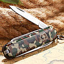 Нож складной, мультитул Victorinox Classic SD (58мм, 7 функций), камуфляжный 0.6223.94, фото 6