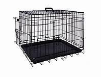 Вольер клетка для собак металлическая чёрная 78х55х62см