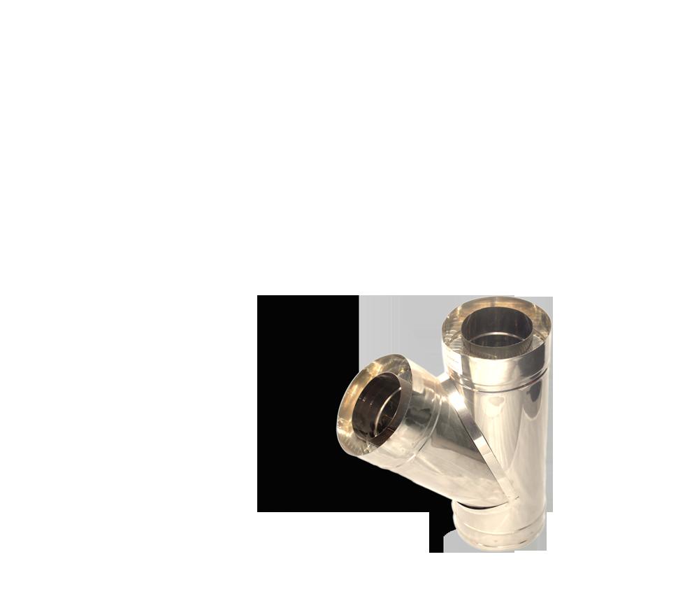 Версия-Люкс (Кривой-Рог) Тройник угол 45 н/н, толщиной 0,8 мм, диаметр 100мм