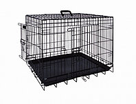 Вольер клетка для собак металлическая чёрная 93х62х69см
