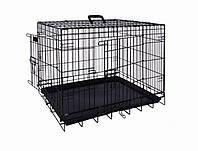 Вольер клетка для собак металлическая чёрная 109х71х79см