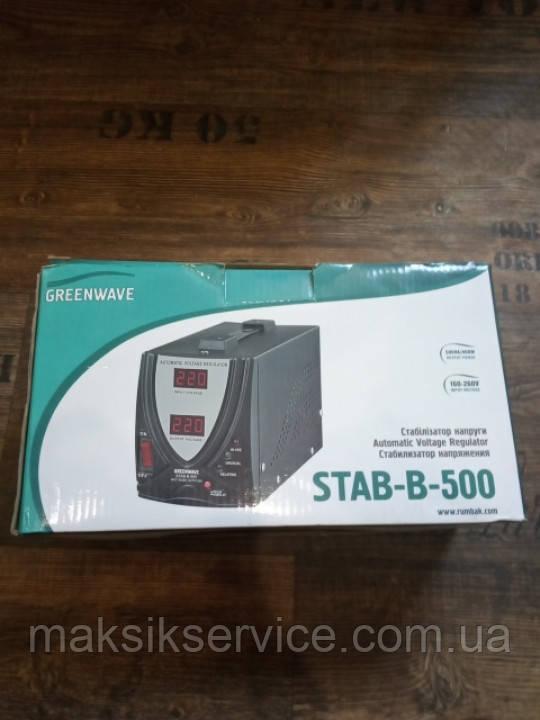 Стабилизатор питания GreenWave STAB-B-500 500VA/400W