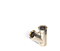 Версия-Люкс (Кривой-Рог) Тройник угол 45 н/н, толщиной 1 мм, диаметр 100мм