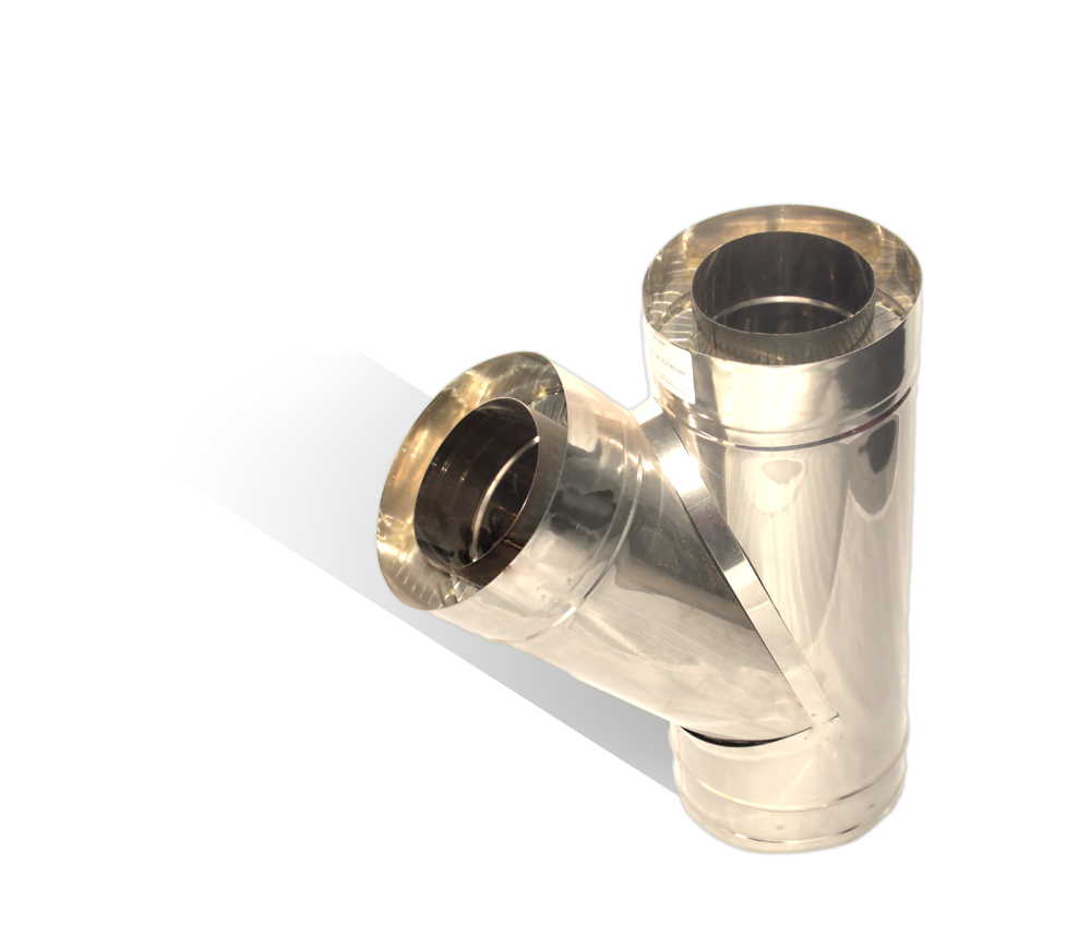 Версия-Люкс (Кривой-Рог) Тройник угол 45 н/н, толщиной 1 мм, диаметр 220мм