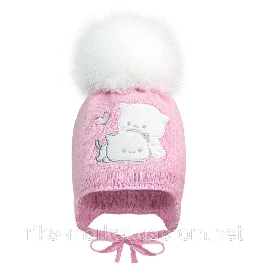 Зимняя шапка для девочки,2074 ,  Девидстар 3 - 9 мес