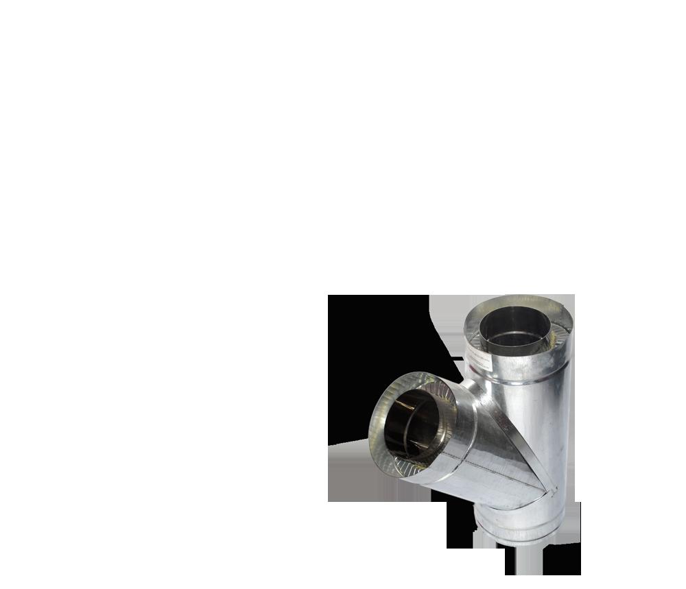 Версия-Люкс (Кривой-Рог) Тройник угол 45 н/оц, толщиной 0,5 мм, диаметр 150мм