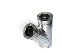 Версия-Люкс (Кривой-Рог) Тройник угол 45 н/оц, толщиной 0,5 мм, диаметр 300мм