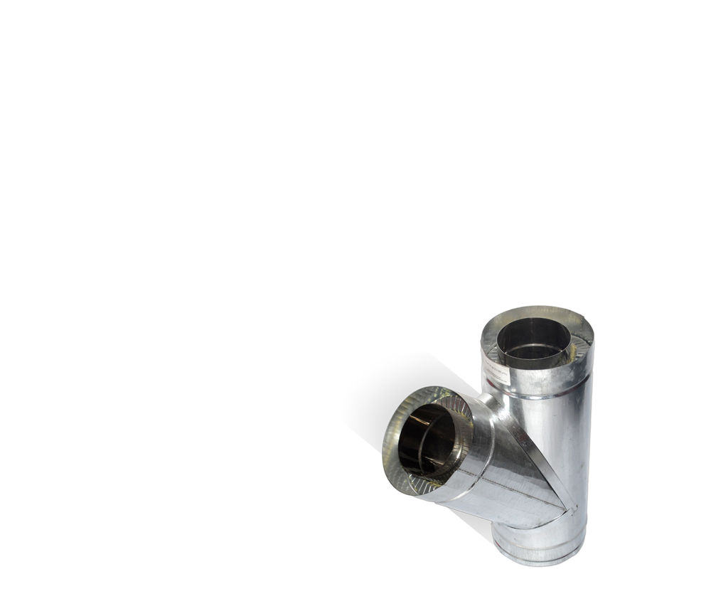 Версия-Люкс (Кривой-Рог) Тройник угол 45 н/оц, толщиной 1 мм, диаметр 125мм