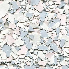 Вінілові чіпси, Blushing Pearl, відерце. 3 кг. Цветные чипсы для напольных покрытий. Розмір 3 (3-5 мм)