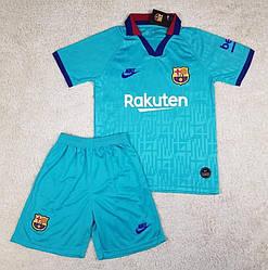 Футбольная форма Барселона резервная бирюзовая сезон 2019-20