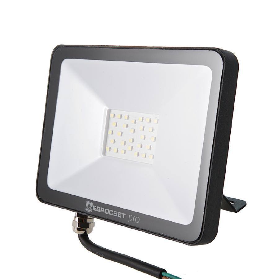 Прожектор светодиодный ЕВРОСВЕТ 20Вт 6400K EV-20-504 PRO-XL 1800Лм