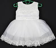 """Платье нарядное детское """"Санта"""" с розочками. 1.5-2 года. Молочное. Оптом и в розницу, фото 1"""