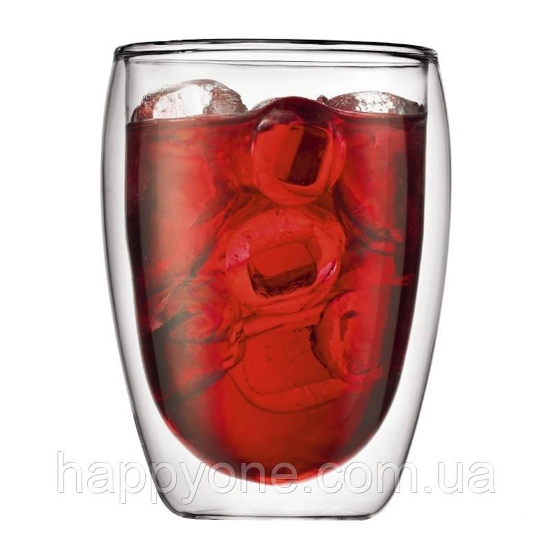 Стеклянный стакан с двойными стенками (300 мл)