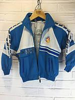 Уценка!!! Детская спортивная кофта голубая с белым 90