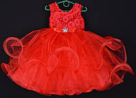 """Платье нарядное детское """"Пушинка"""". 3-4 года. Красное. Оптом и в розницу, фото 1"""
