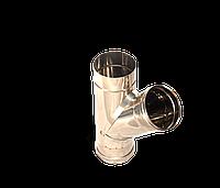 Версия-Люкс (Кривой-Рог) Тройник угол 45, нержавейка, толщиной 0,5 мм, диаметр 160мм