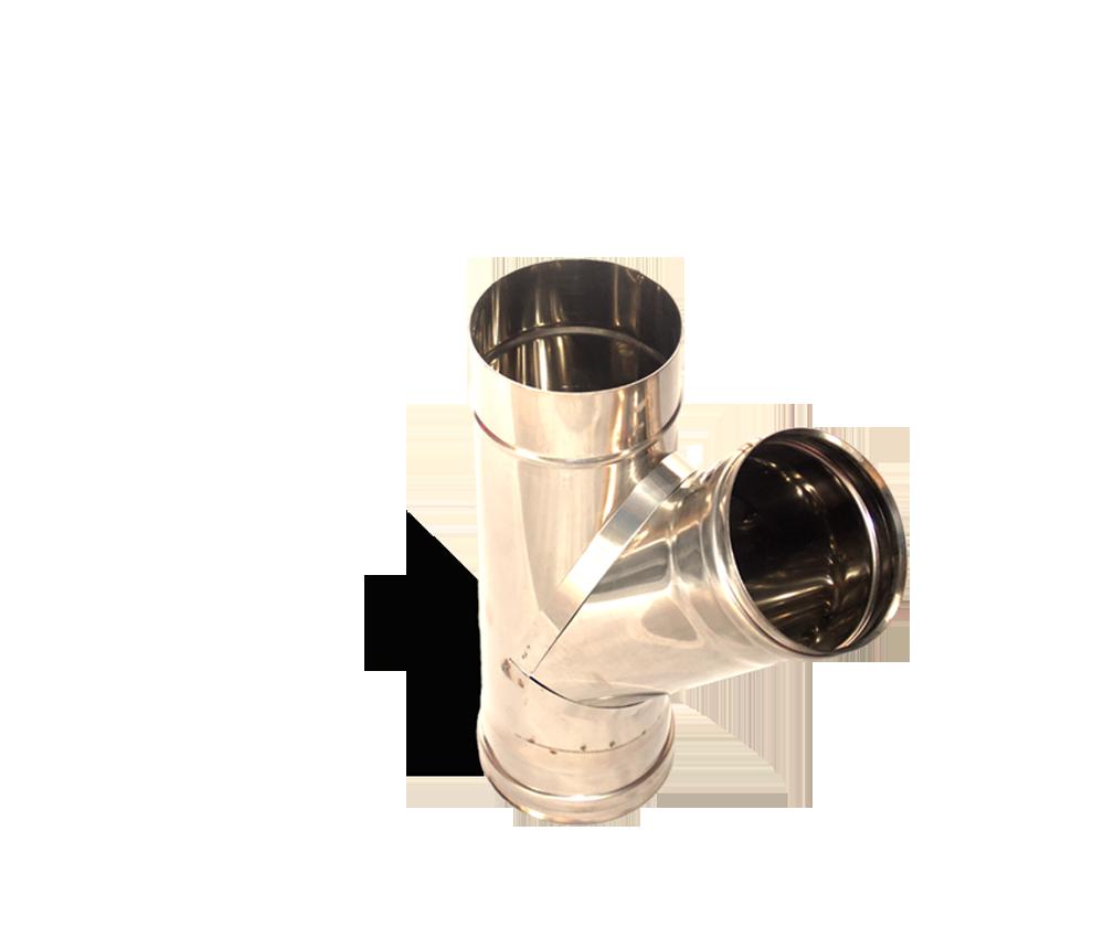 Версия-Люкс (Кривой-Рог) Тройник угол 45, нержавейка, толщиной 0,8 мм, диаметр 160мм