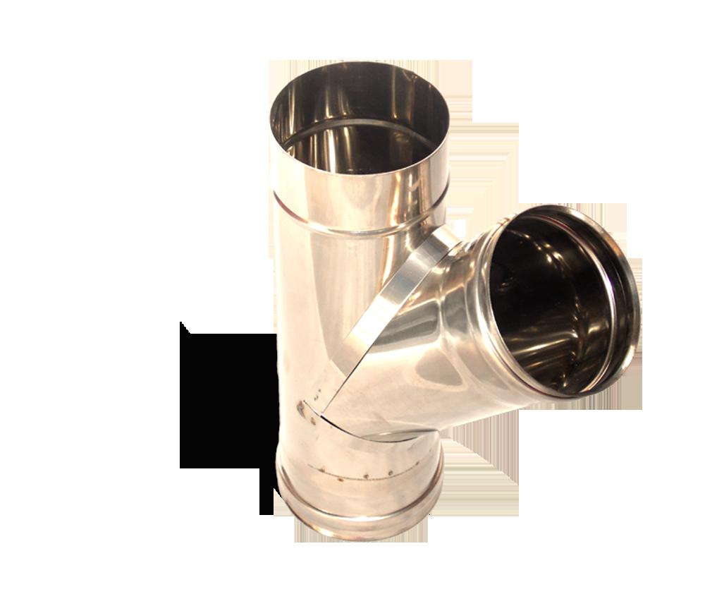 Версия-Люкс (Кривой-Рог) Тройник угол 45, нержавейка, толщиной 0,8 мм, диаметр 220мм