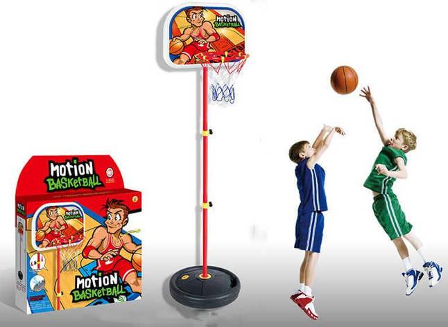 Баскетбольное кольцо на стойке  HF 607 (8) Н=140 см, в коробке, фото 2