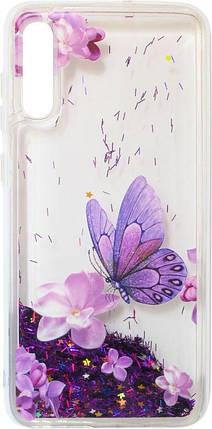 Накладка SA A705 violet baterfly аквариум, фото 2