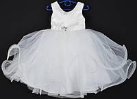 """Платье нарядное детское """"Пушинка"""". 3-4 года. Молочное. Оптом и в розницу, фото 1"""