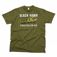Футболка T-Shirt Black Hawk Sikorsky SH-60 OD