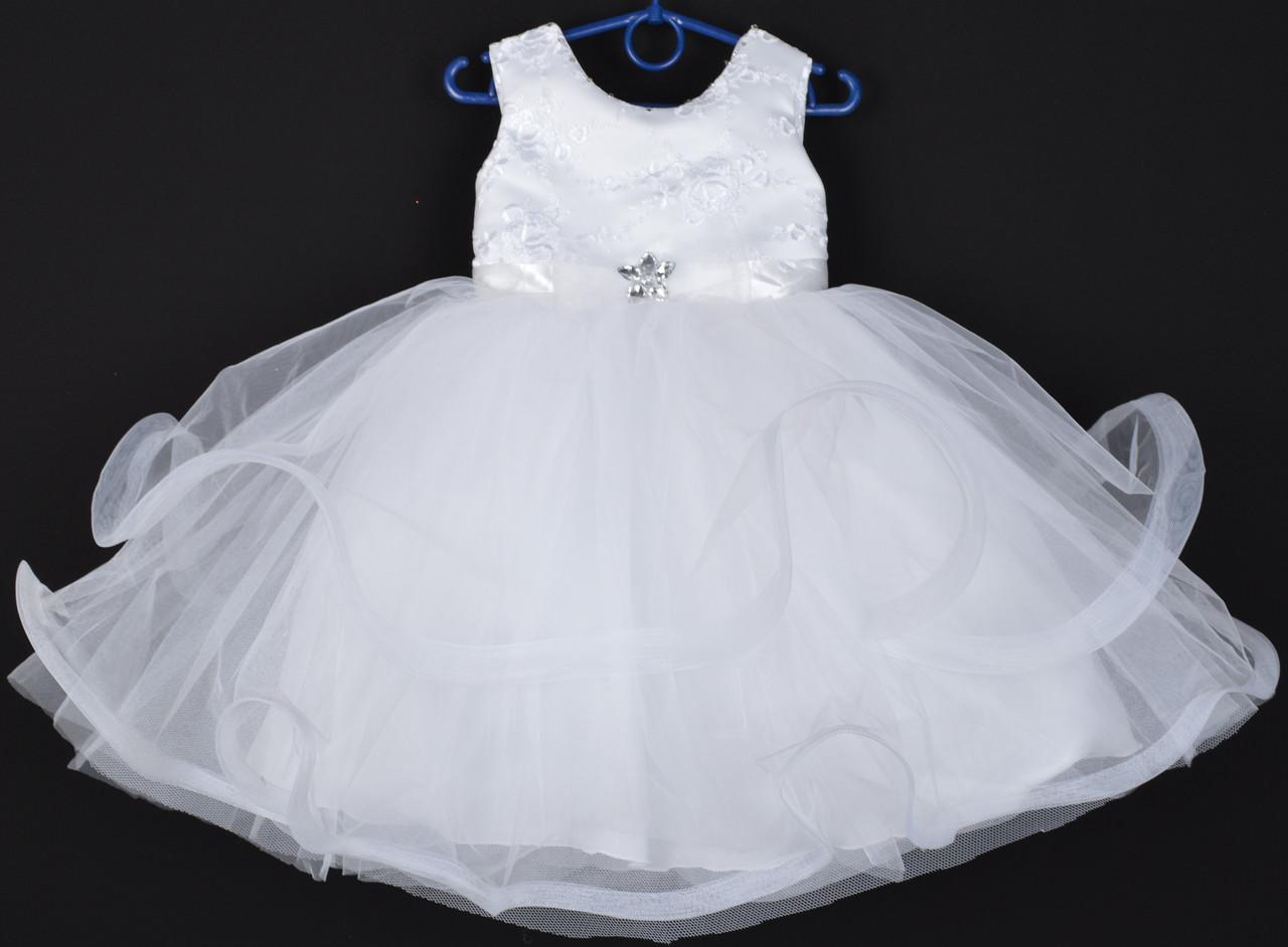 """Платье нарядное детское """"Пушинка"""". 3-4 года. Белое. Оптом и в розницу"""