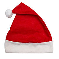 Новогодний карнавальный колпак, 50-52 см полиэстер, красный, (460328)