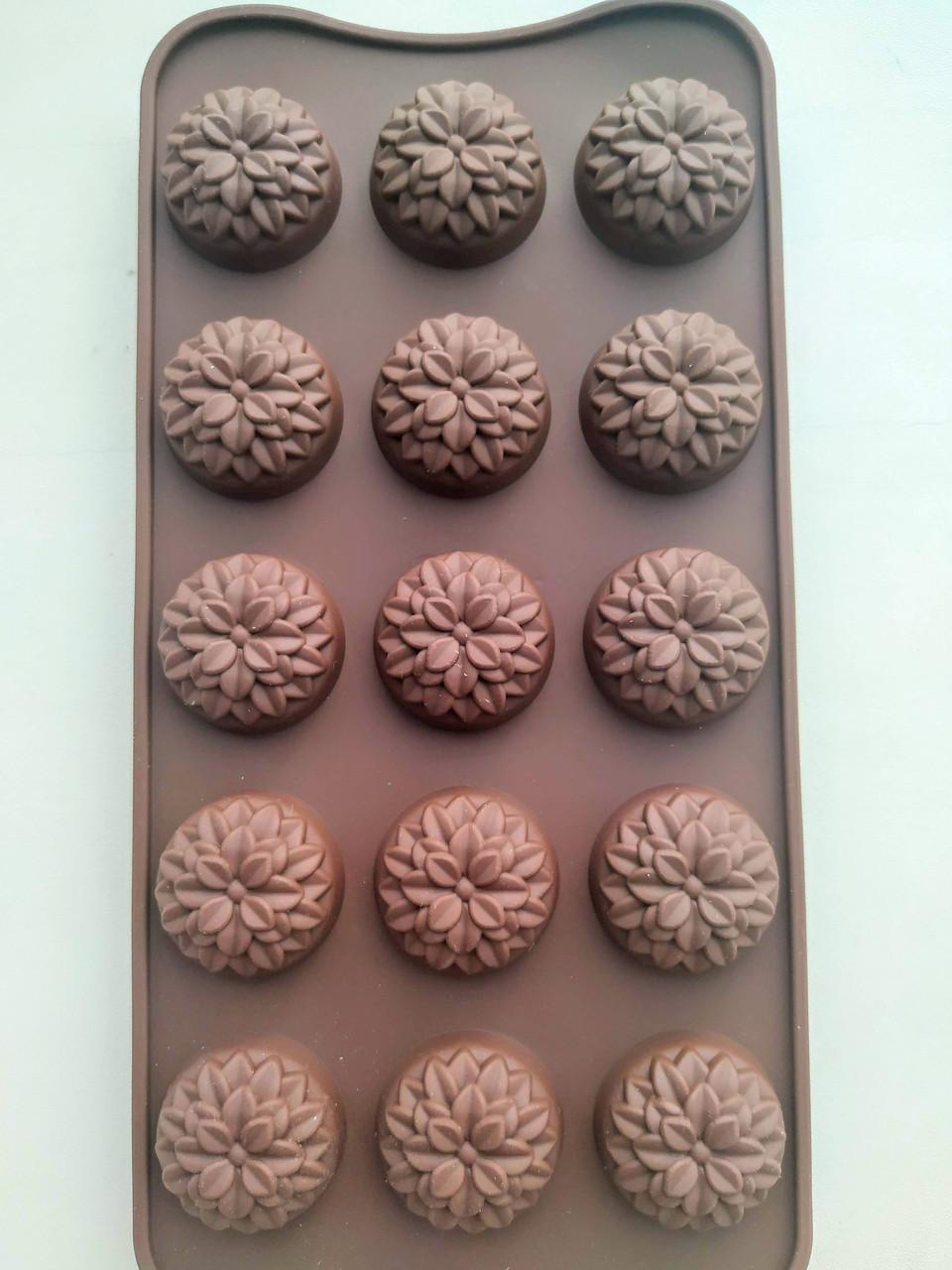 Форма силиконовая Хризантема для конфет, мармелада, декора, шоколада