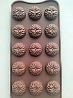 Форма силиконовая Хризантема для конфет, мармелада, декора, шоколада, фото 1