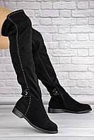 Женские ботфорты Dave черные 1348