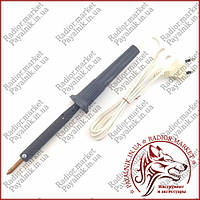 Заводской электропаяльник 65 ватт (220V 65W ручка карболит, жало 6мм)
